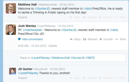 2014-04-11 Josh Manley in Pres SBTS office