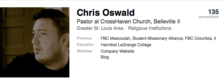 Chris Oswald Linked-In profile