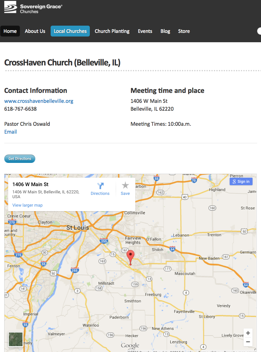 2015-05-17 Sov Grace map with CrossHaven church