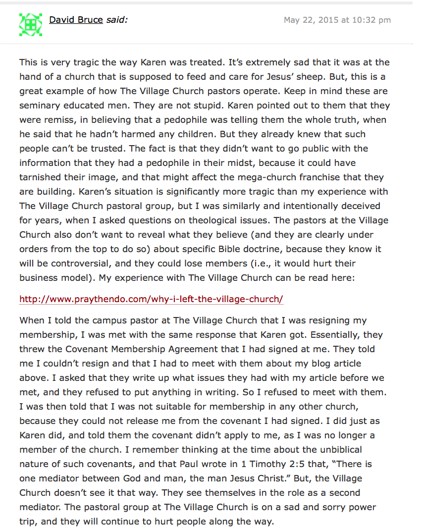 2015-05-23 Comment on Redmond blog on Village church member contracts