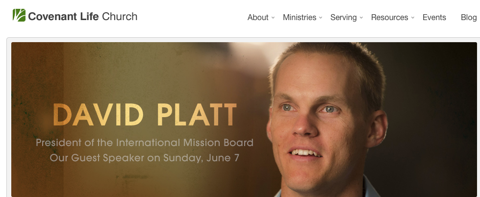 Celebrity pastor David Platt to speak at CLC.