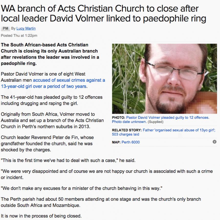 2015-08-01 David Volmers church to close