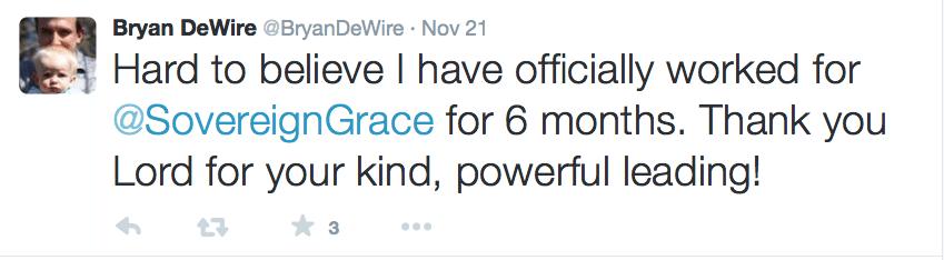 2015-08-11 DeWire thanks God 6 months into SGM job