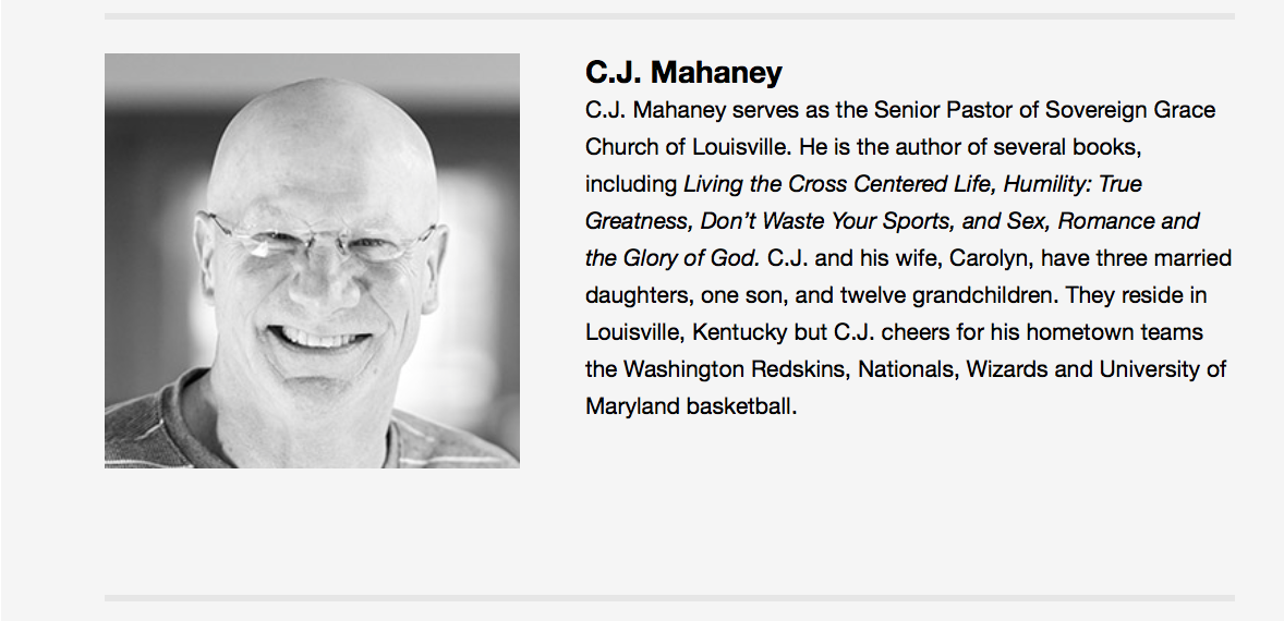 2015-12-30 CJ Mahaney T4G Plenary speaker