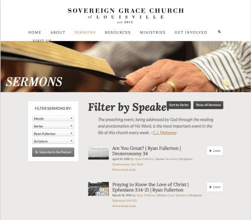 Ryan Fullerton 2 sermons at Mahaney church