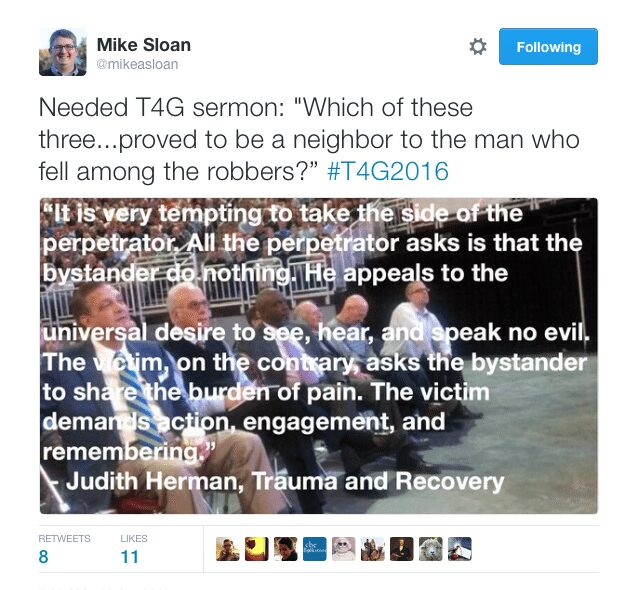 2016-04-13 Great Tweet about T4G