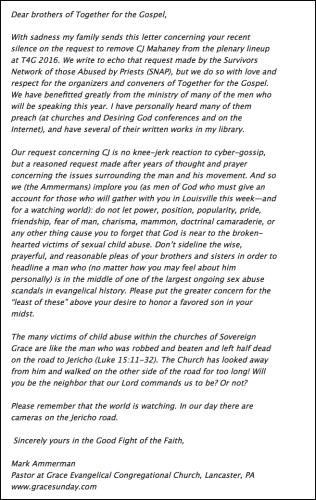 2016-04-14 Mark Ammerman statement