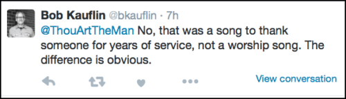 2016-04-19 Kauflin response on Mahaney worship song