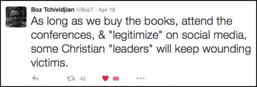 2016-05-12 Boz on legitimizing Mahaney