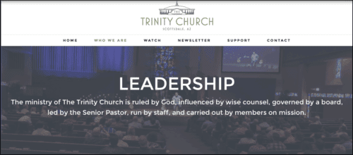 2016-08-10 Leadership of Driscoll church