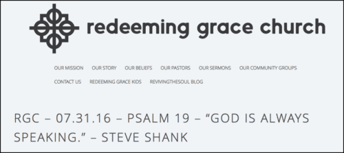 2016-08-21 Steve Shank preaching at Redeeming Grace Church