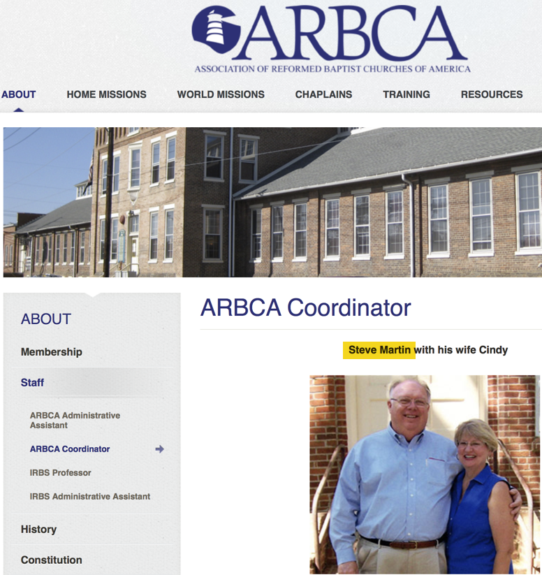 Tom Chantry and the Not So Incredible Shrinking ARBCA | The